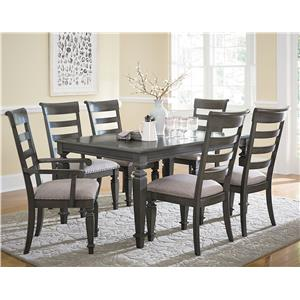 Standard Furniture Garrison Dining Room Traditional Seven Piece Dining Set