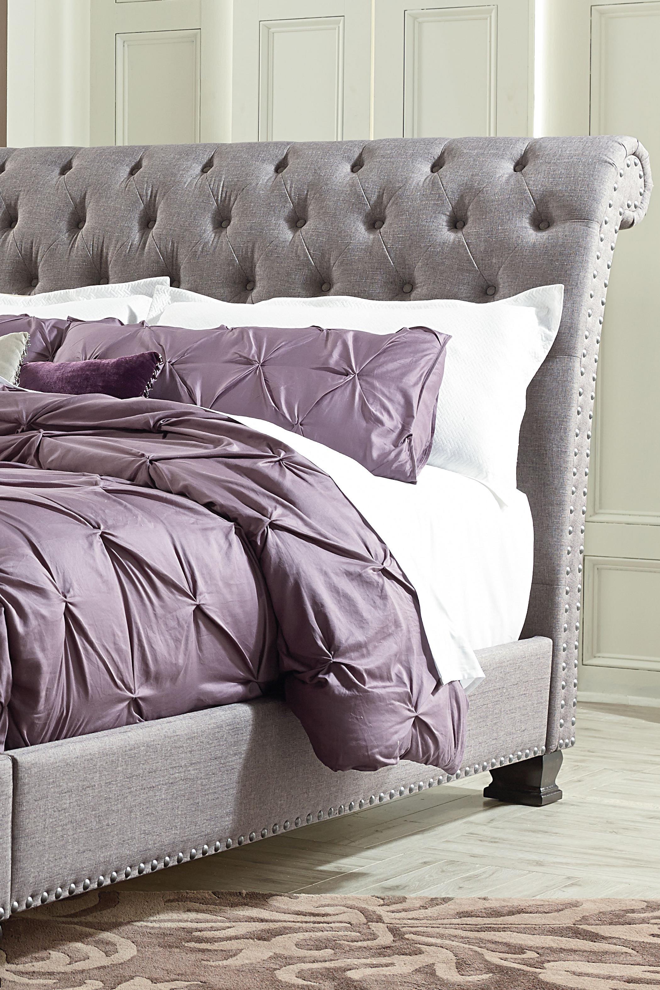Standard Furniture Garrison Queen Traditional Upholstered Bed | Wayside  Furniture | Upholstered Beds