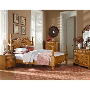 Standard Furniture Georgetown Traditional Cannonball Poster Queen Bed