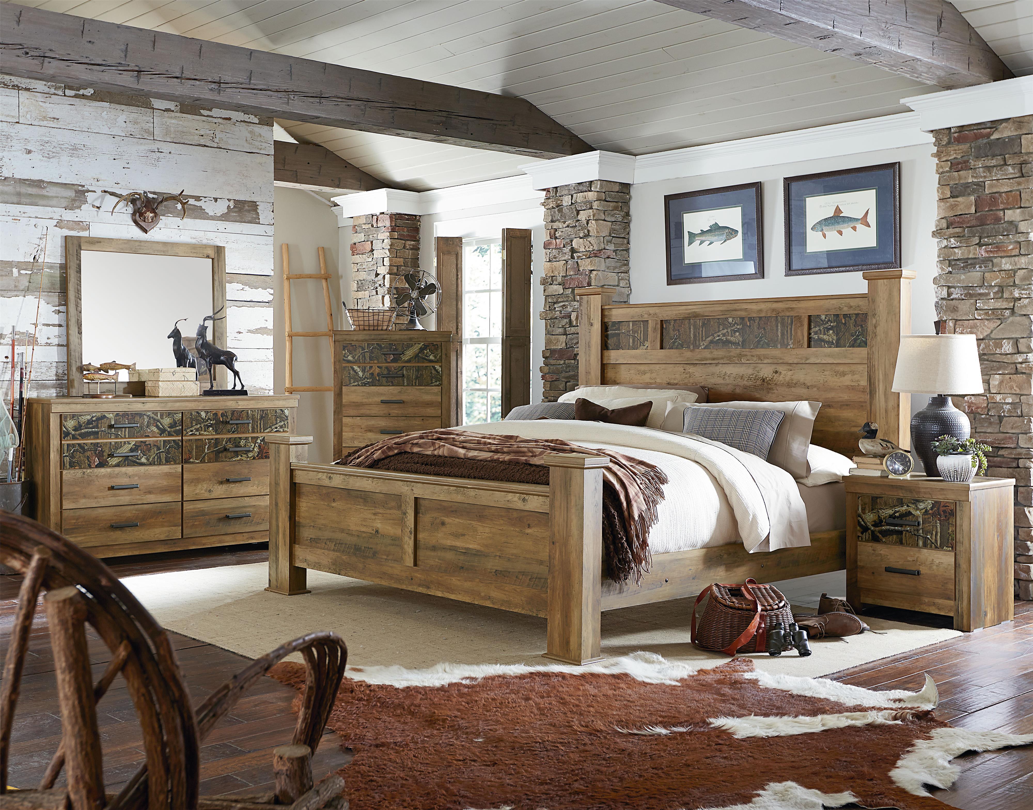 Standard Furniture Habitat Headboard With Camouflage Print Panel | Wayside  Furniture | Headboard