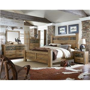 Standard Furniture Habitat King Bed with Oversized Square Posts