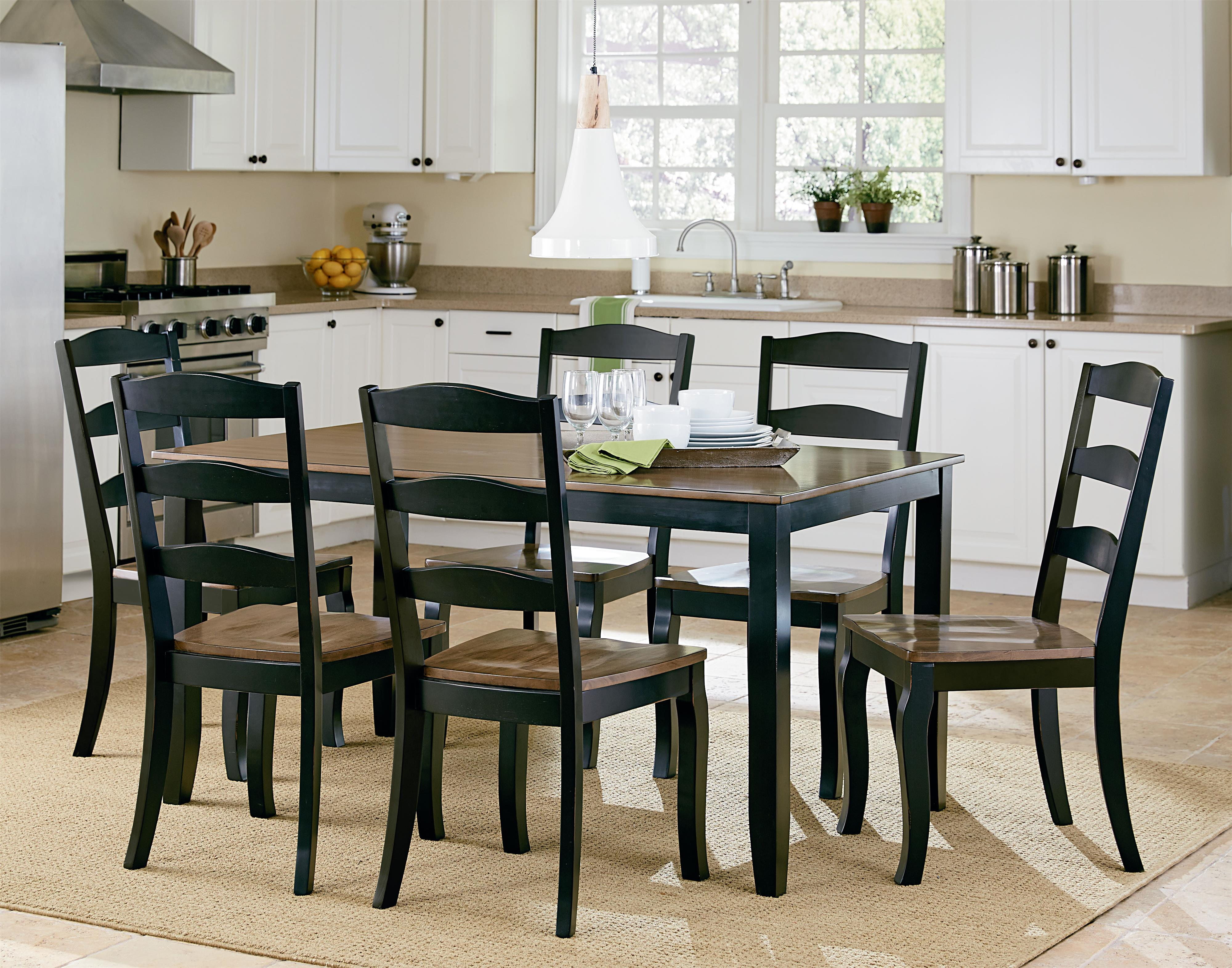 Standard Furniture Highland Black Table Set With Six Side Chairs   Standard  Furniture   Dining 7 (or More) Piece Sets Birmingham, Huntsville, Hoover,  ...