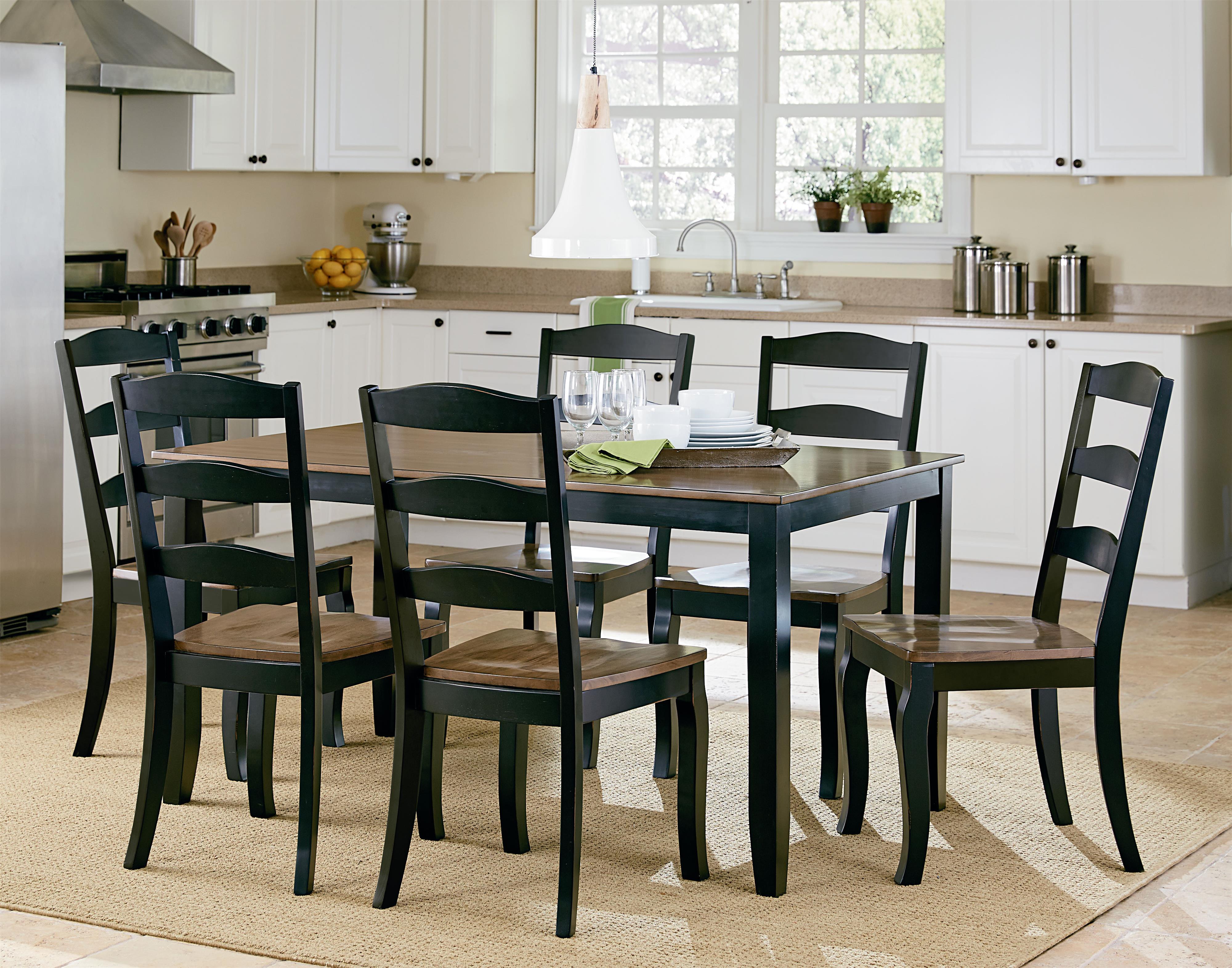 Standard Furniture Highland Black Table Set With Six Side Chairs | Standard  Furniture | Dining 7 (or More) Piece Sets Birmingham, Huntsville, Hoover,  ...