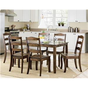 Standard Furniture Highland Table Set with Six Side Chairs