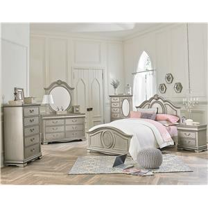 Standard Furniture Jessica Silver Full Bedroom Group