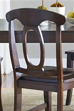 Open Oval Splat Back Dining Chair