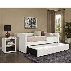 Standard Furniture Lindsey Twin Upholstered Daybed with Trundle