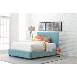 Standard Furniture Madison Twin Youth Upholstered Bed with Short Wood Legs