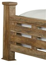 Wide Bed Posts and Open Slat Panels