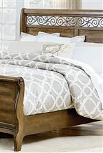Scrolled Headboard and Footboard Legs and Decorative Scroll Fret Detail