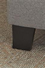 Black Square Wood Foot