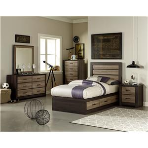 Standard Furniture Oakland Twin Bedroom Group with Captain's Bed