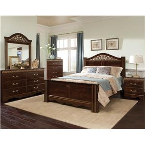 Standard Furniture Odessa Dresser & Mirror Combo with Gold or Silver Colored Moldings