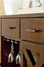 Sideboard Features Drawers, Doors, and Storage for Wine and Glasses