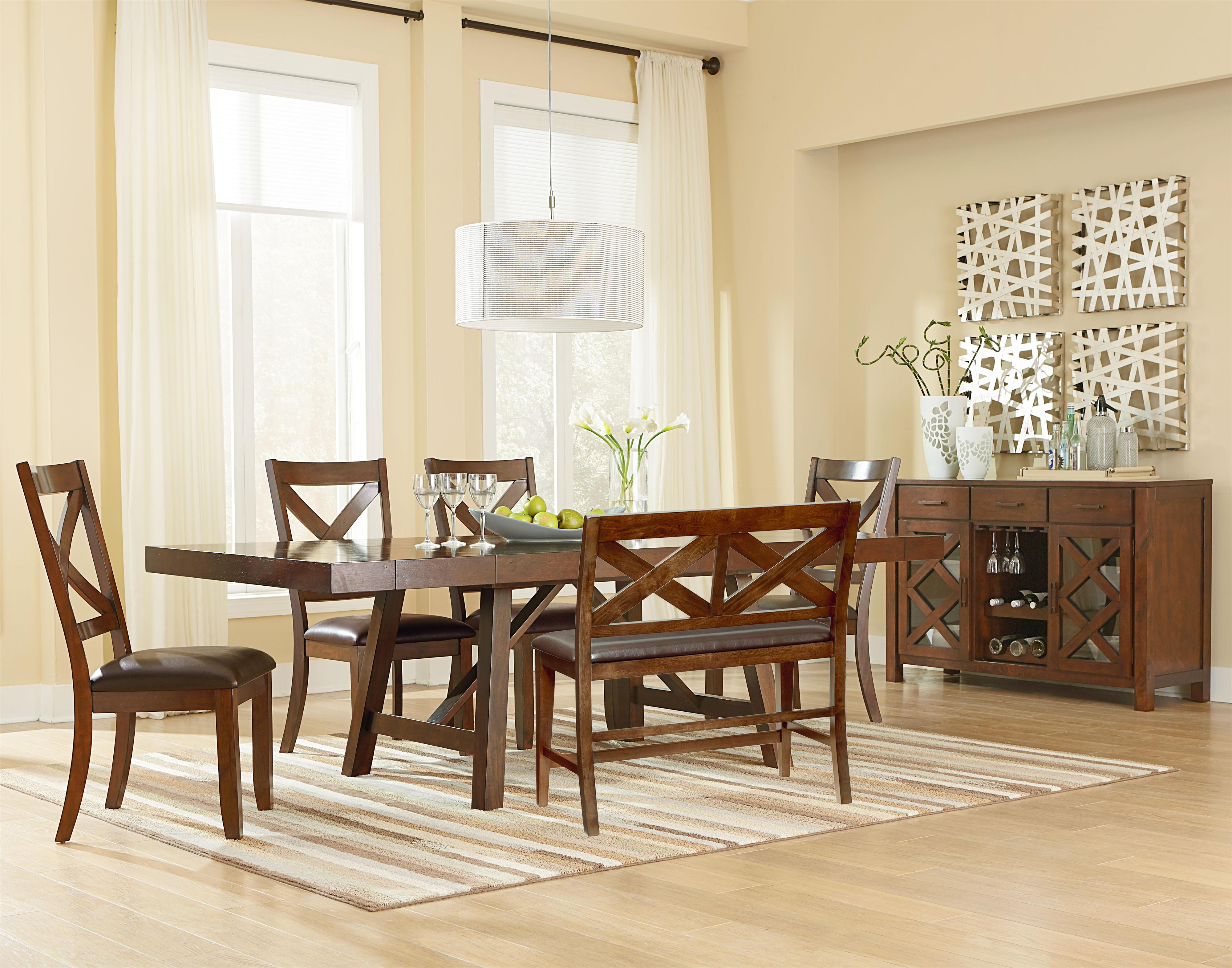 Standard Furniture Omaha Brown Casual Dining Room Group - Item Number: 16180 Dining Room Group 3