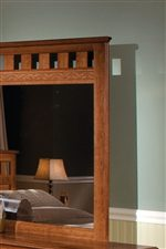 Decorative Grill on Panel Mirror.
