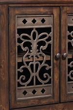 Elegant Metal Fretwork on Doors