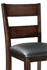 Thick Ladder-Back Barstool