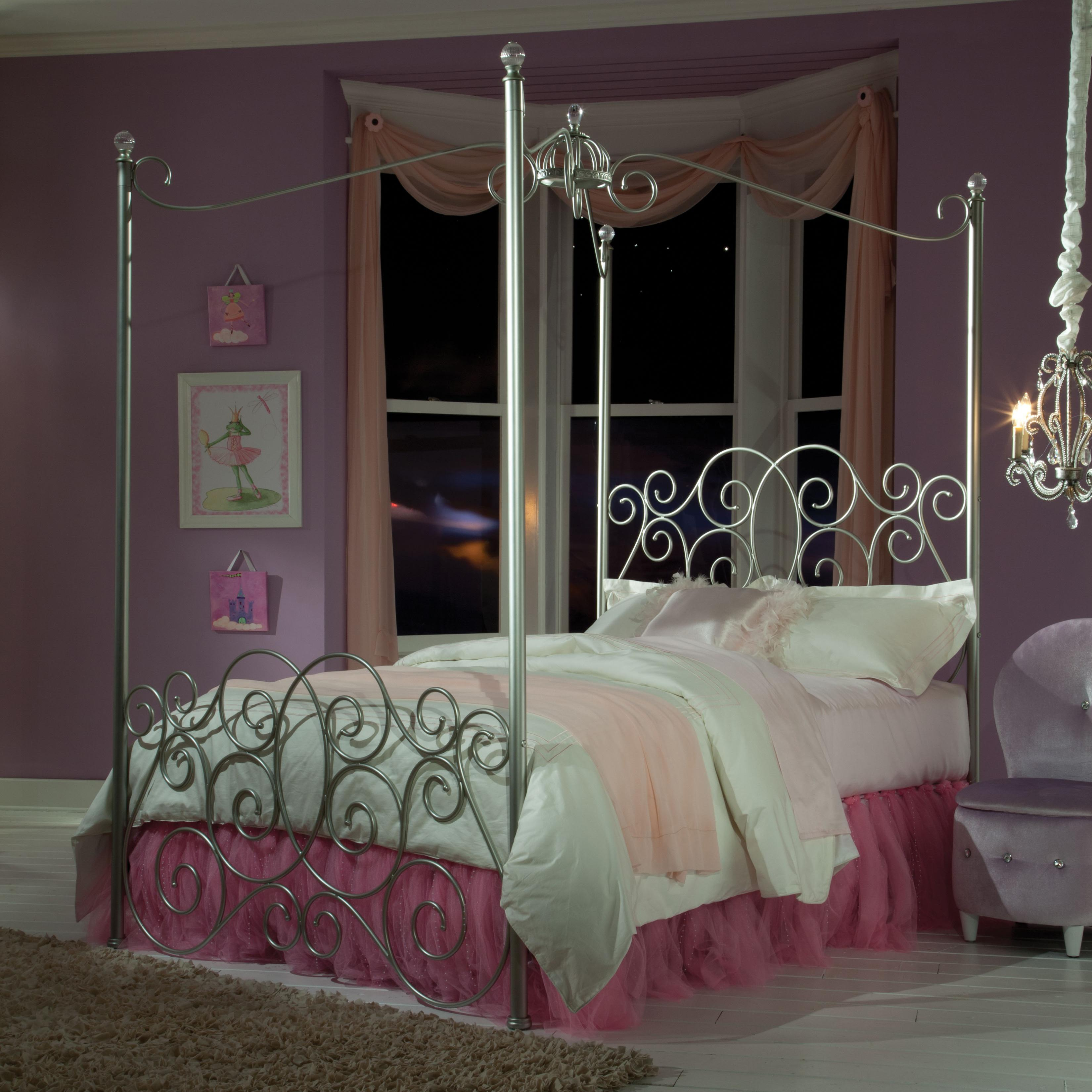 Standard Furniture Princess Canopy Beds Full Metal Canopy Bed with Clear Post Finials | Wayside Furniture | Canopy Bed & Standard Furniture Princess Canopy Beds Full Metal Canopy Bed with ...