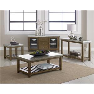 Standard Furniture Riverton Accent Tables Metal Top Console Table