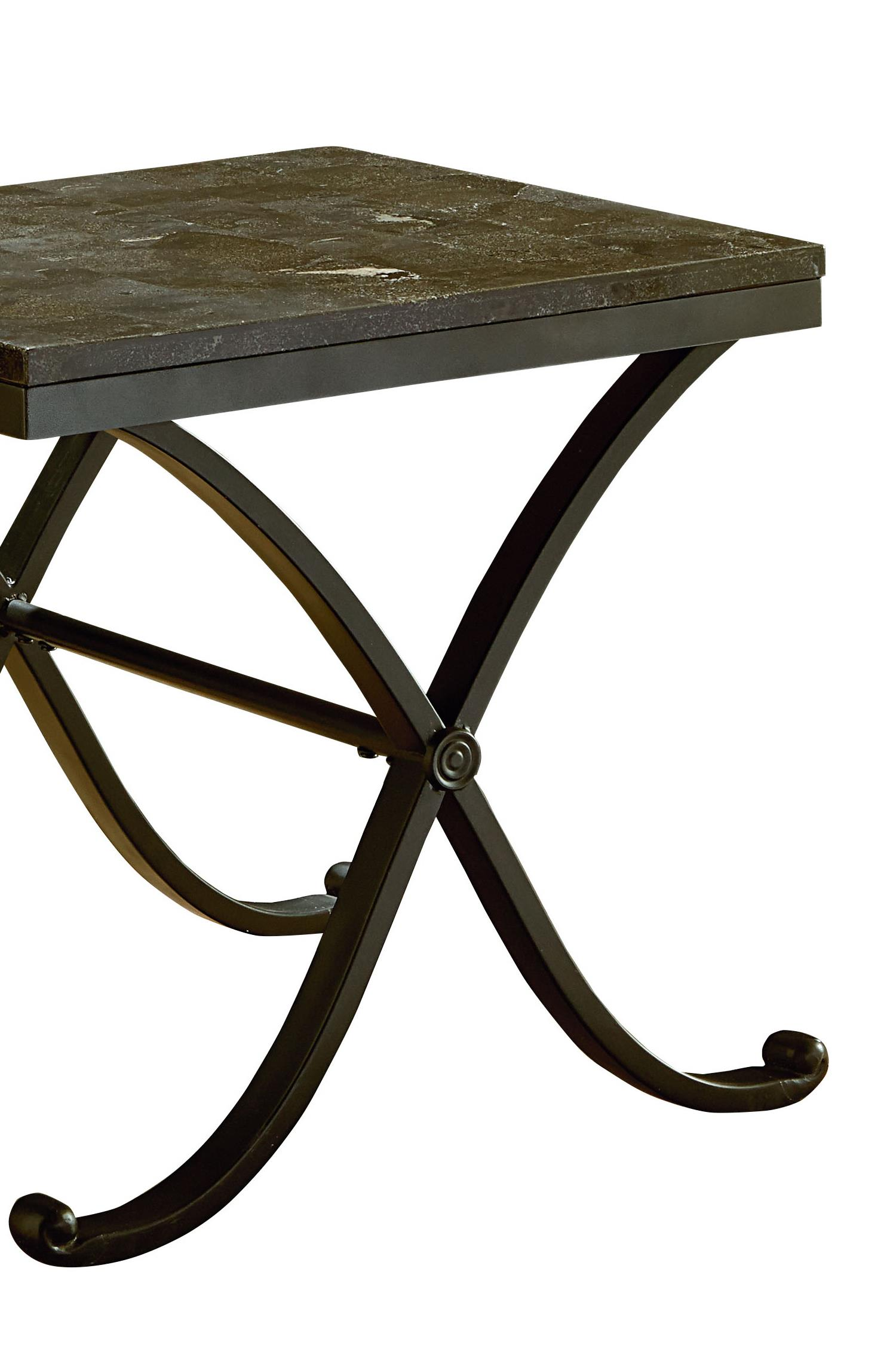 Standard Furniture Santiago Metal Cocktail Table with a Stone Top