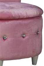Jeweled Button Tufting Adds a Pretty Accent to Chairs