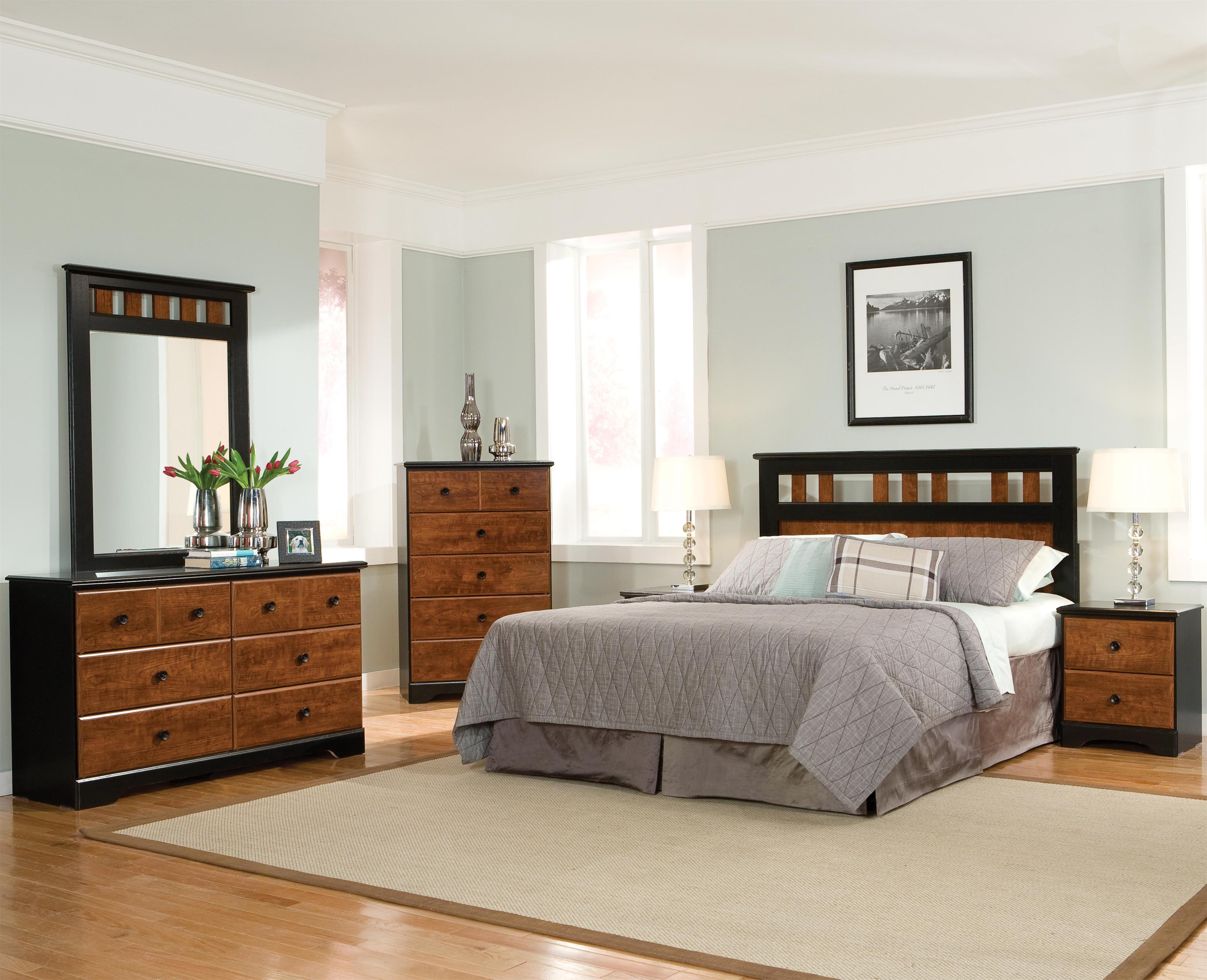 Standard Furniture Steelwood Twin Bedroom Group - Item Number: 61200 T Bedroom Group 1