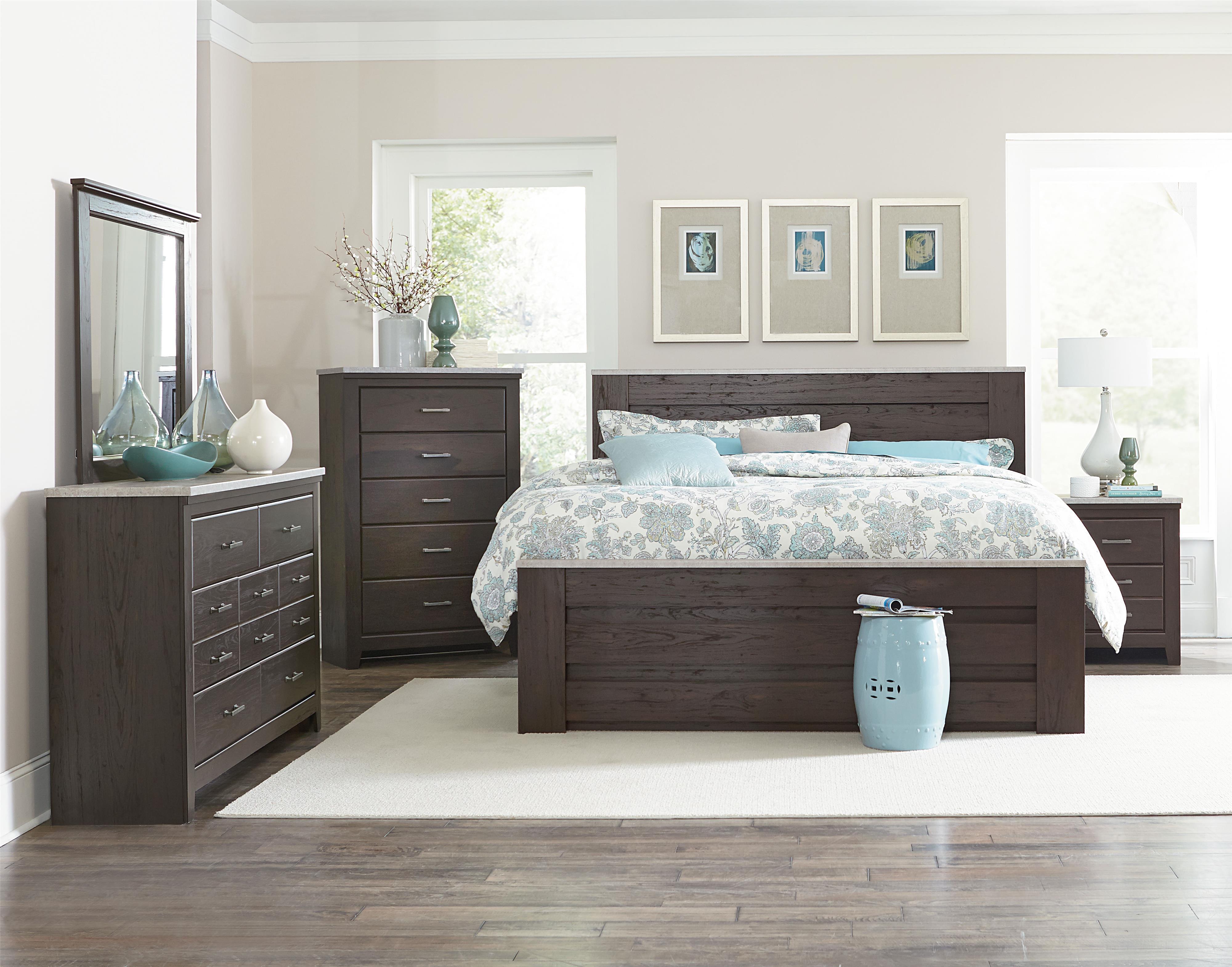 Standard Furniture Stonehill Dark King Bedroom Group - Item Number: 69350 K Bedroom Group 2