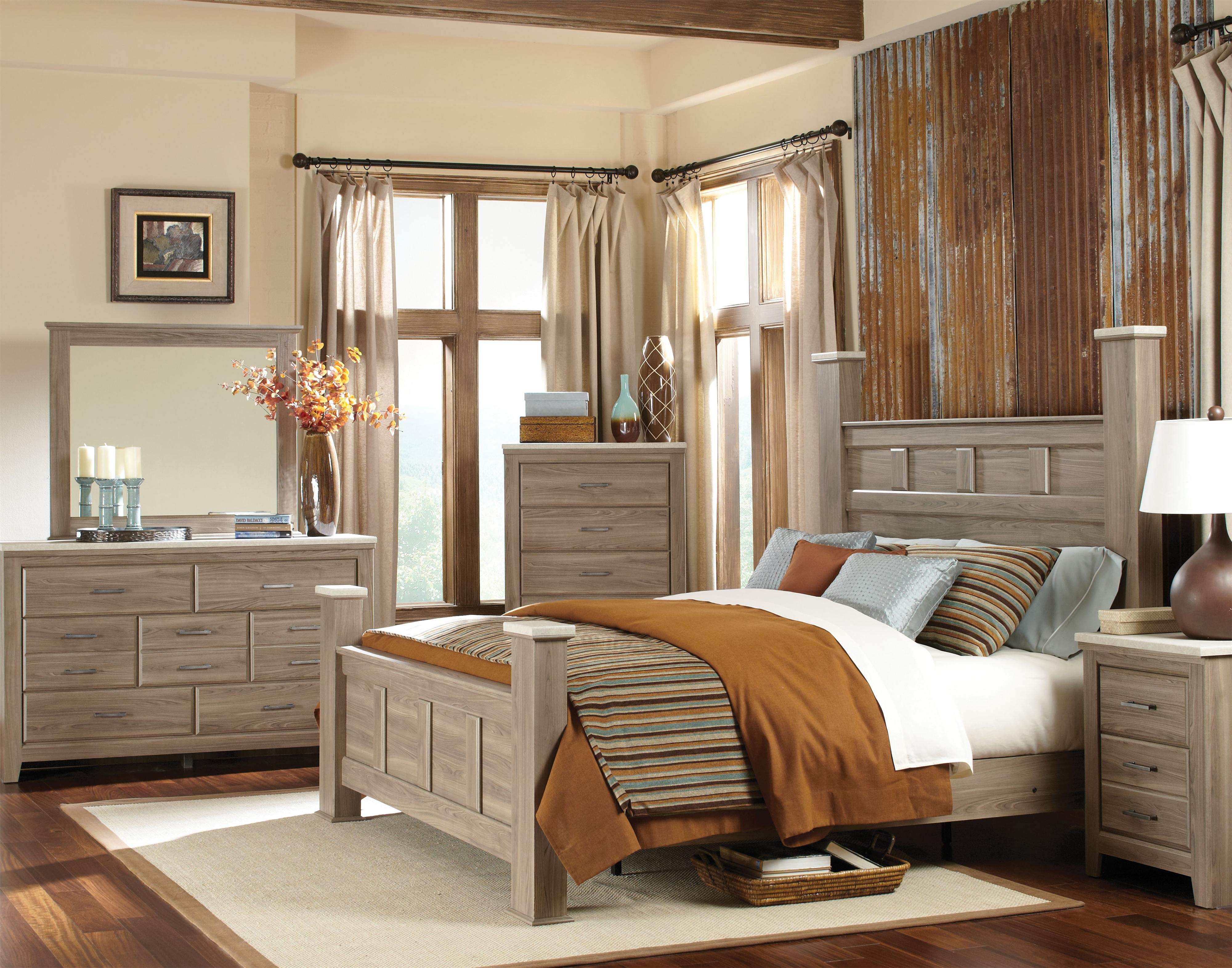 Standard furniture stonehill casual queen poster bed bullard furniture poster bed fayetteville nc