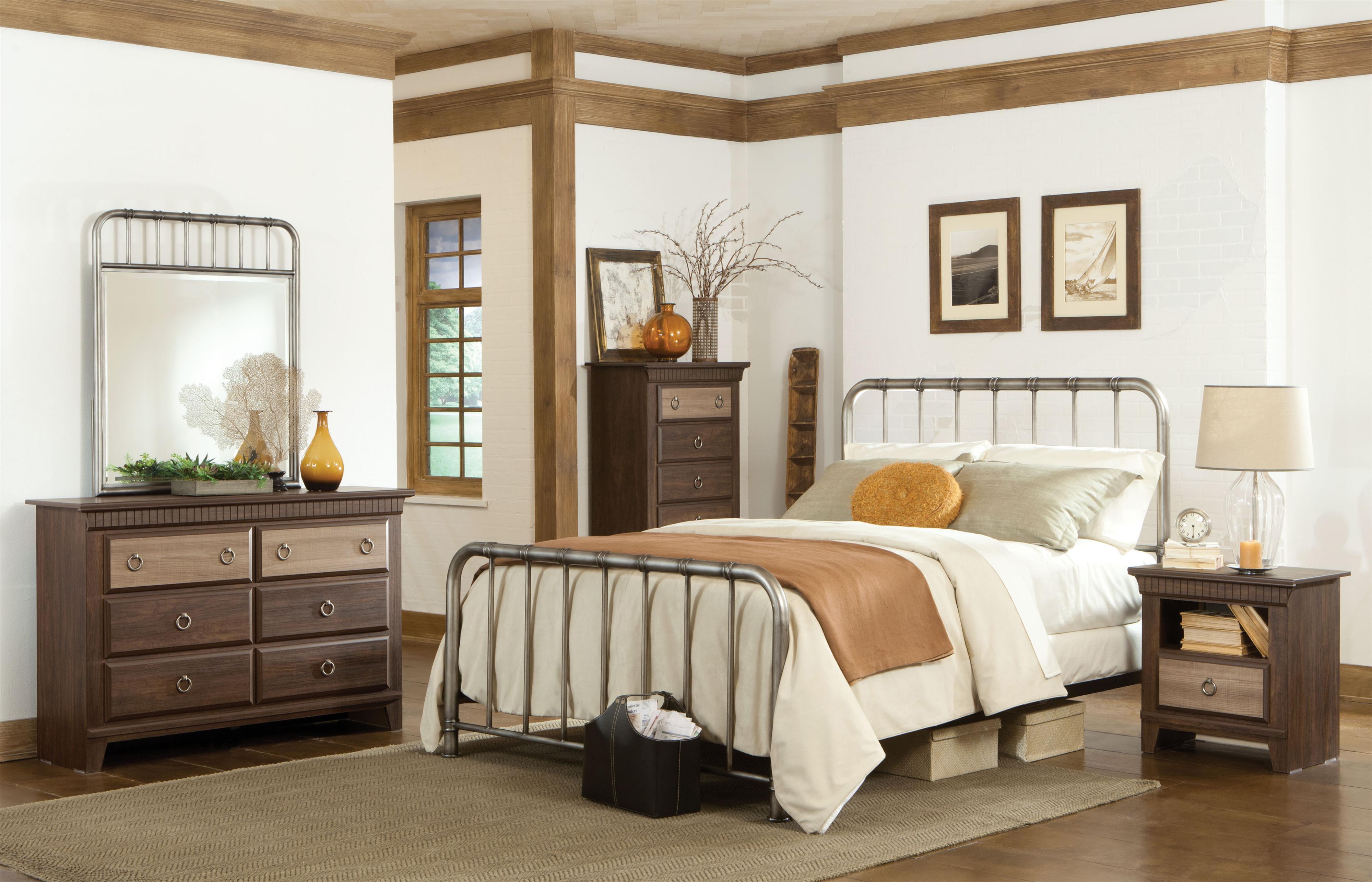 Delightful Standard Furniture Tristen Queen Metal Bed With Tubular Steel   Wayside  Furniture   Headboard U0026 Footboard