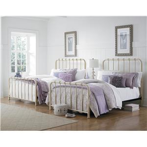 Standard Furniture Tristen King Metal Bed with Tubular Steel
