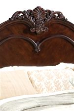 Grandly-Scaled Headboard Features Beautiful Acanthus Leaf Design
