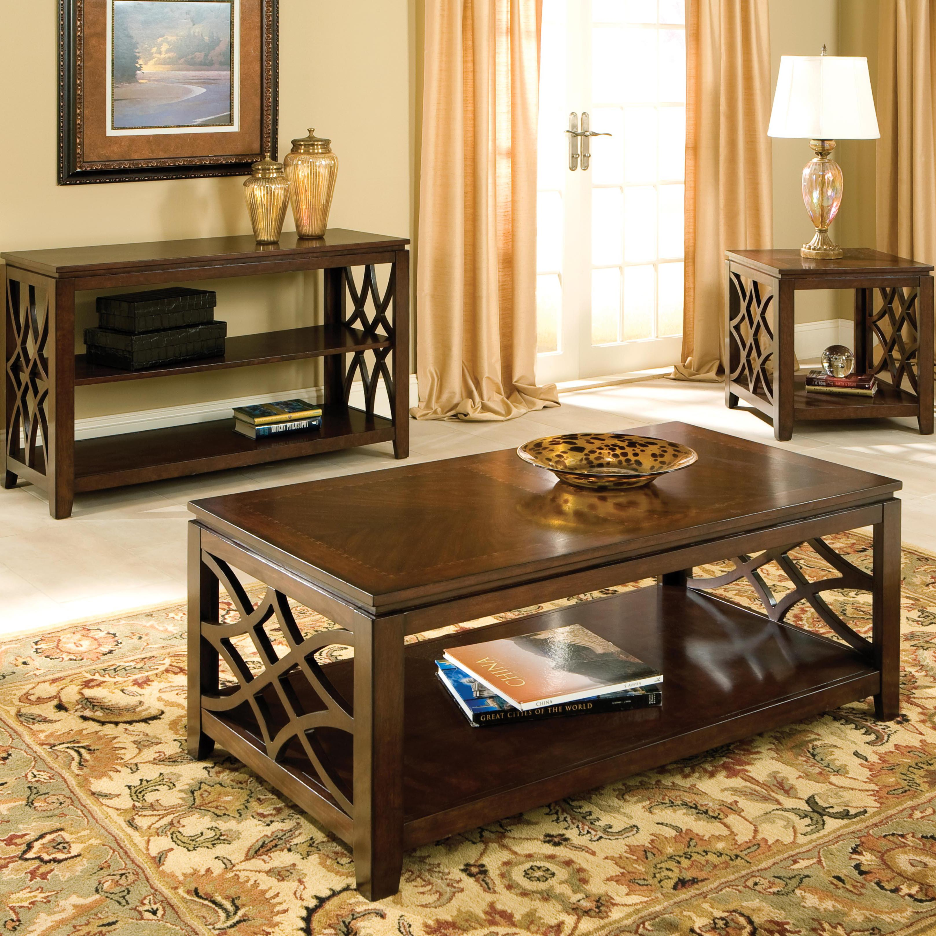 Standard Furniture Woodmont 5 Piece Counter Height Table ...