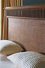 Natural Organic Influence with Herringbone Weave on Nevis Woven Bed