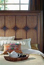 Substantial Molding and Walnut Burl Inlay on Panel Bed