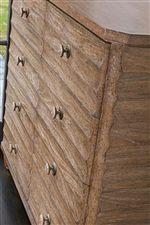 Scallop Design Motif in Both Front and Sides of Dressing Chest