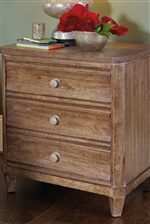 Subtle Concave Drawer Fronts for Scallop Motif on Night Stand