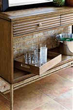 Ripple Cay Serving Console Includes Removable Serving Tray