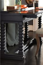 Portuguese Style Notched Trestle Base on Reef Flip Top Table