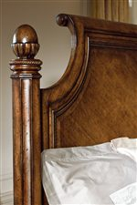Rêverie Panel Bed Features Intricate Detail on Posts and Headboard
