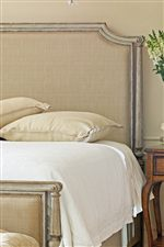Luxurious Upholstered Bed with Glace Fabric