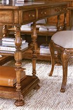 Elaborately Turned Legs on Writing Desk