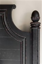 French Country Styled Headboard with Acorn Finials