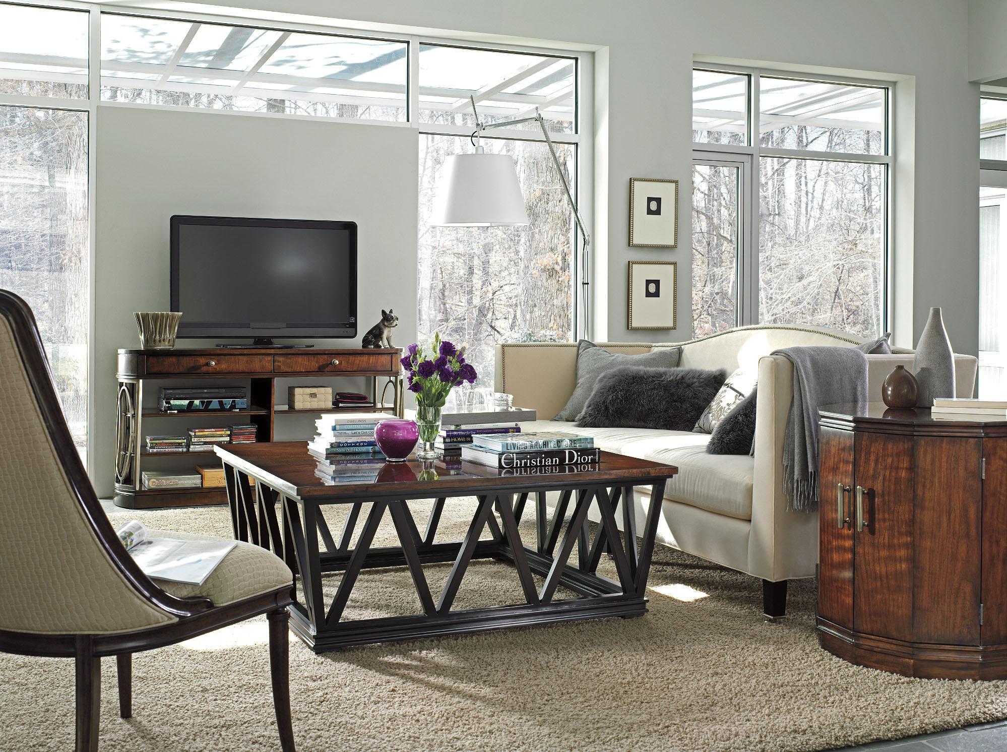 Stanley Furniture Avalon Heights 2 Door Marlowe Drum End Table