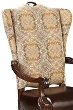 Arm Chair Back with Arazzo Fabric Upholstery