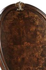 Scrolled Acanthus Leaf Shell Detail on Oval Back Chair