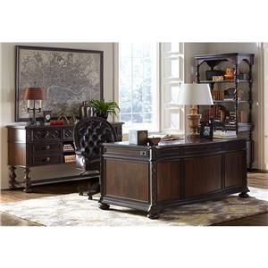 Stanley Furniture Casa D'Onore Executive Desk Chair with Leather Upholstery