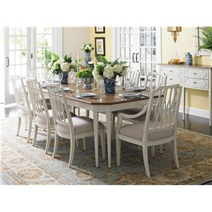 Stanley Furniture Charleston Regency Drayton Eight-Leg Dining Table with 24 Inch Leaf