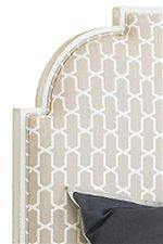 Upholstered Headboard in Braided Trellis Fabric
