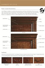 Wood/Finish Characteristics